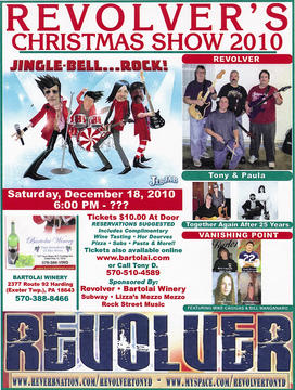 REVOLVER's Christmas Show (2010), by REVOLVER / TONY & PAULA / VANISHING POINT on OurStage